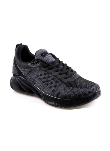 RYT Senjoy Memory Foam Taban Siyah Erkek Günlük Spor Ayakkabı Siyah